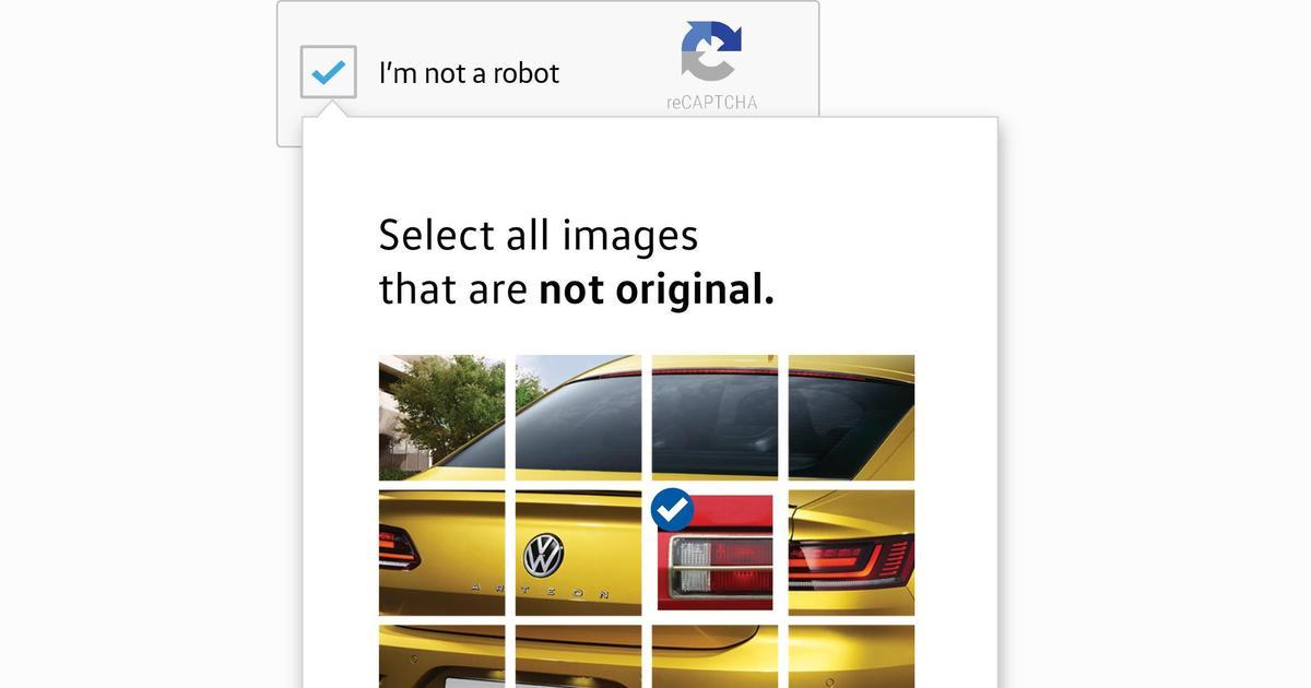 Volkswagen использовал систему reCAPTCHA в новой рекламной кампании.