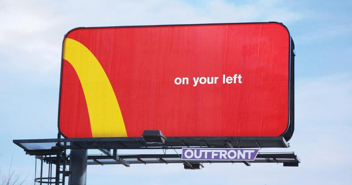 McDonald's превратил собственный лого в дорожные знаки.