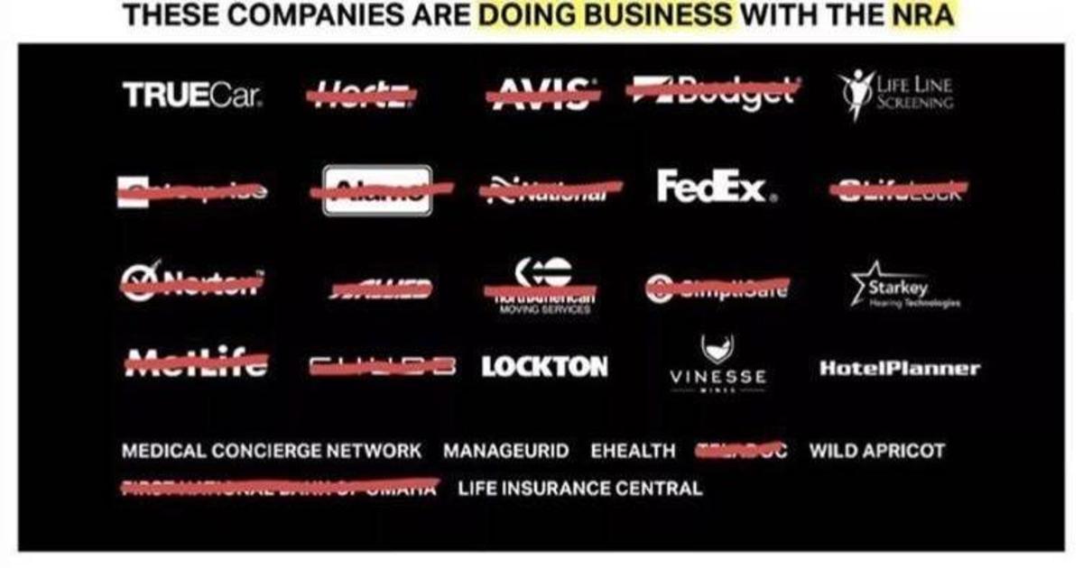 Глобальные бренды дистанцировались от Национальной стрелковой ассоциации.