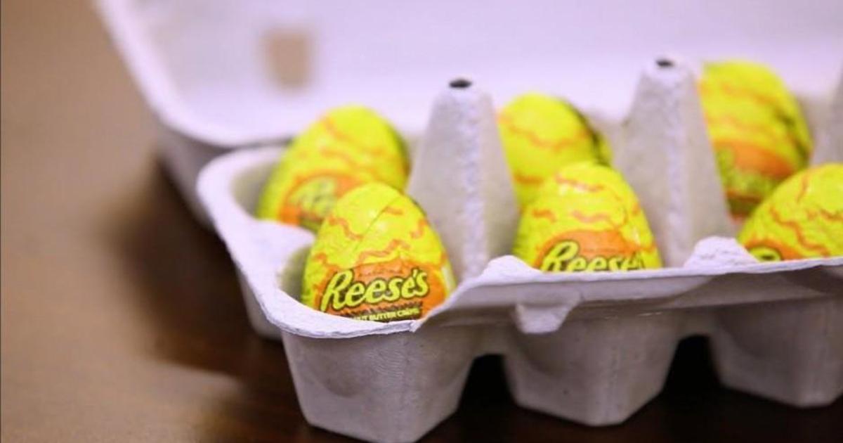 Reese's заменил обычные яйца шоколадными в первоапрельской шутке.