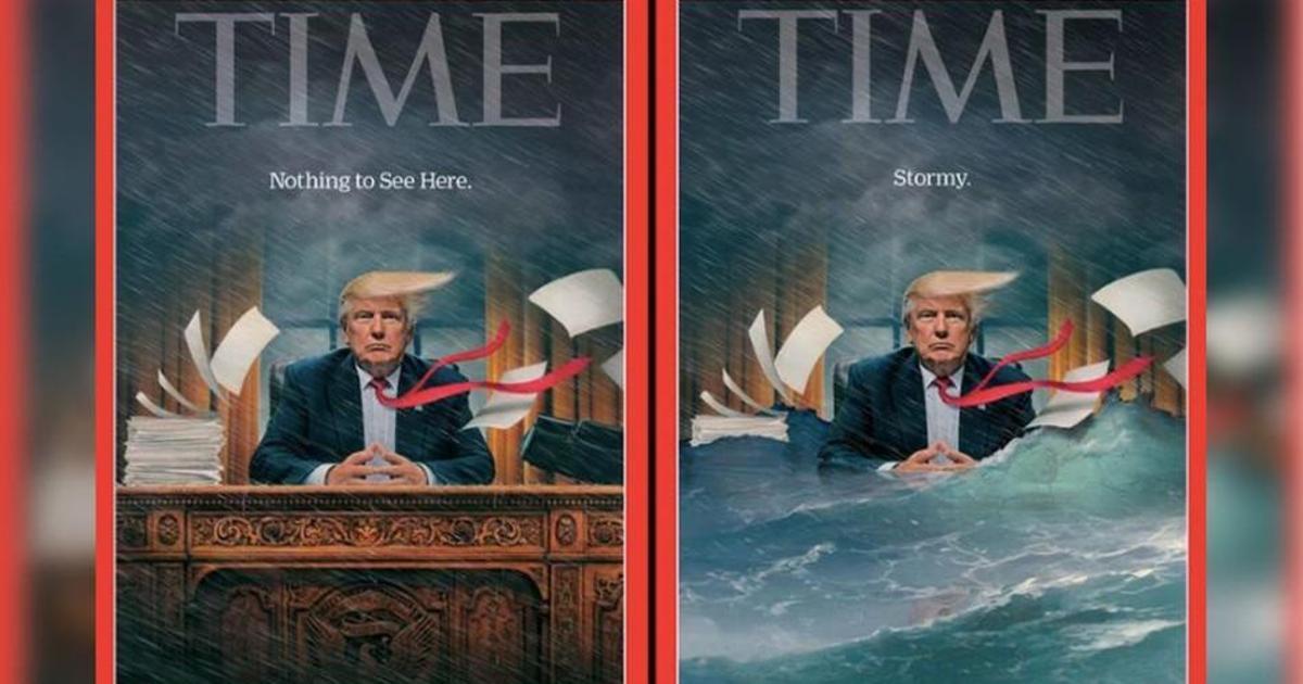 Новая обложка Time показала неспокойное президентство Трампа.