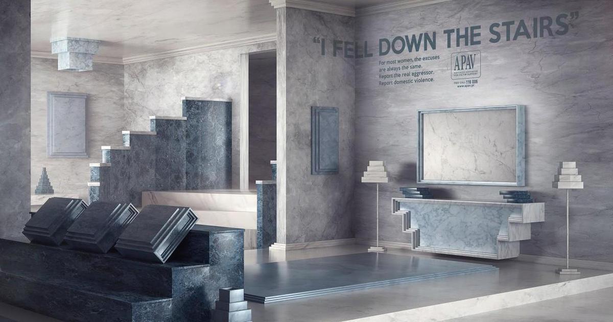 Креативщики придумали абсурдные комнаты для социальной кампании.