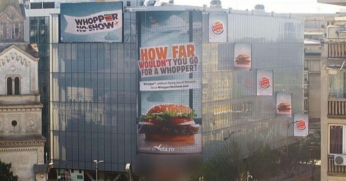 Burger King попросил покупателей обменять билет в другую страну на воппер.