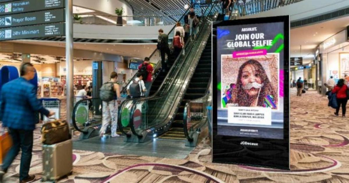 Absolut запустил глобальную интерактивную сэлфи-кампанию в аэропортах.