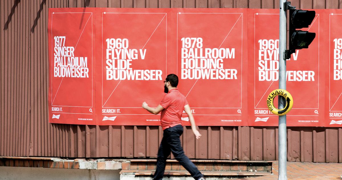 Budweiser доказал глубокую связь с музыкой в новой OOH-кампании.