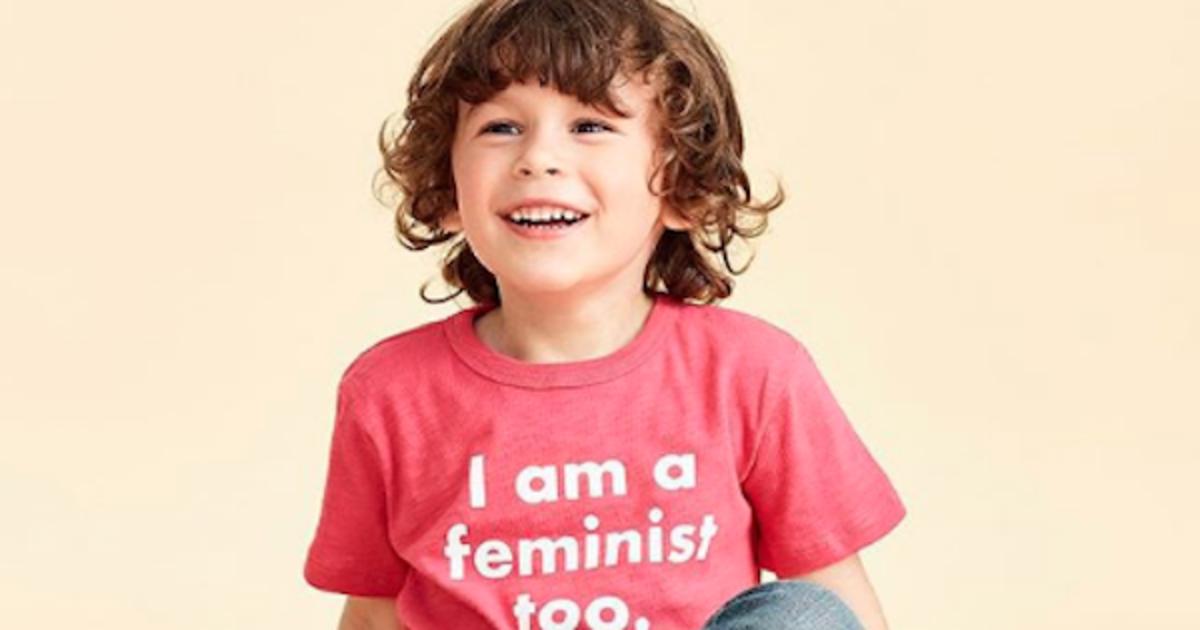 Футболка для мальчиков «Я тоже феминист» от J.Crew вызвала шум в сетях.