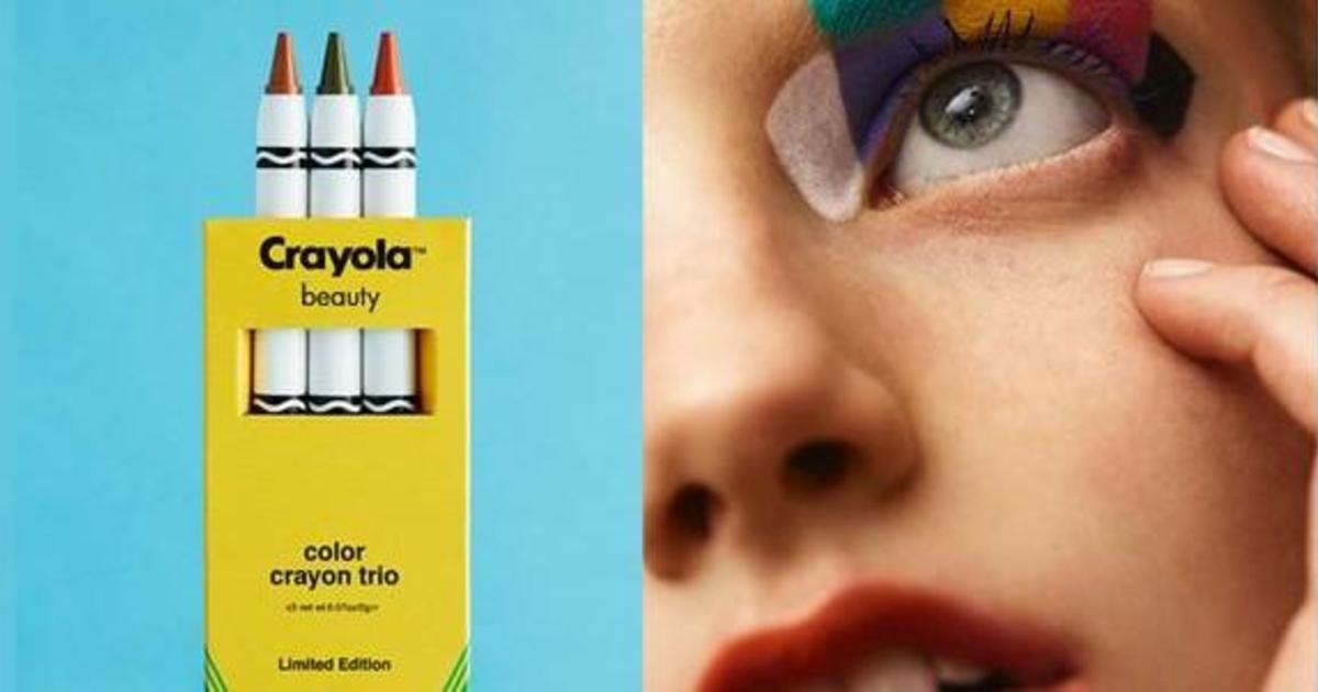 Бренд мелков Crayola запустил линейку для макияжа.