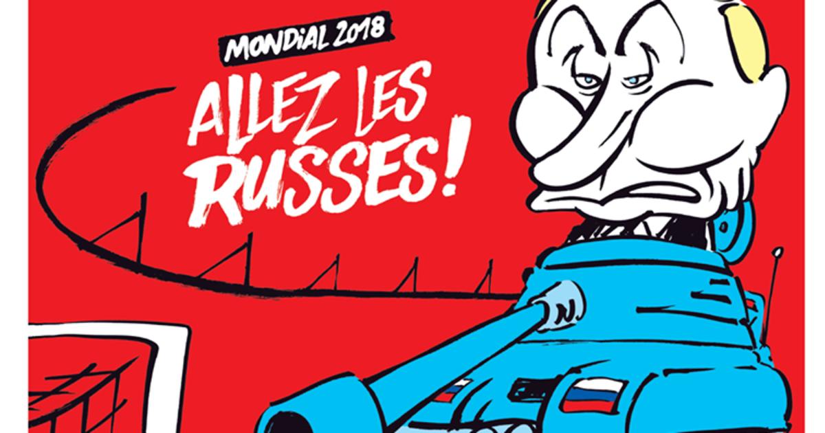Charlie Hebdo посмеялся над Путиным на обложке номера о ЧМ-2018.