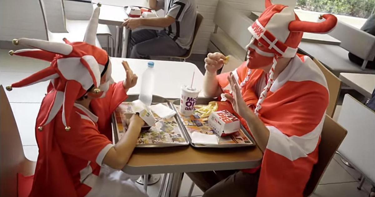 McDonald's позаботится о футбольных фанах, которые не успевают покушать.