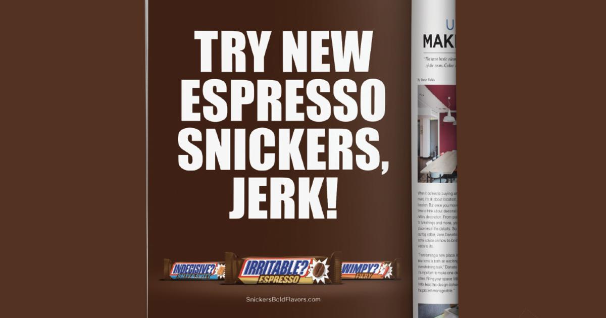 Snickers выпустил принт, в котором назвал потребителей «болванами».