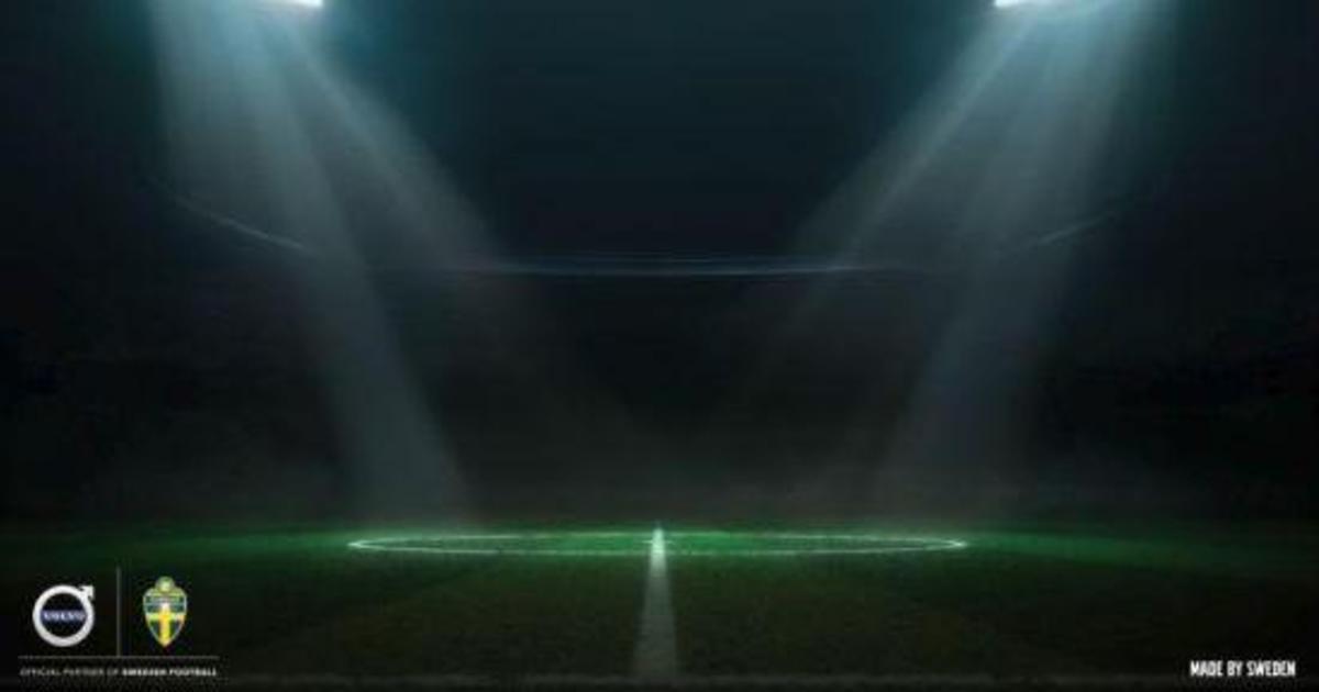 Volvo напомнила о себе в печатной рекламе накануне матча Швеции с Мексикой.