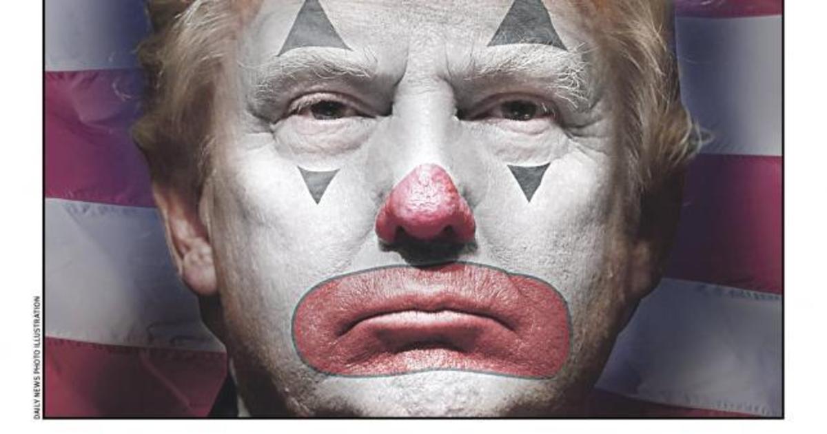 Дональд Трамп превратился в клоуна на обложке The New York Daily News.