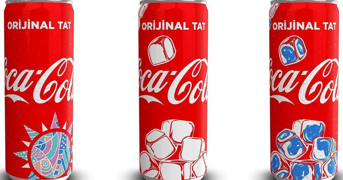 Coca-Cola выпустила банки с термохромными чернилами в Турции.
