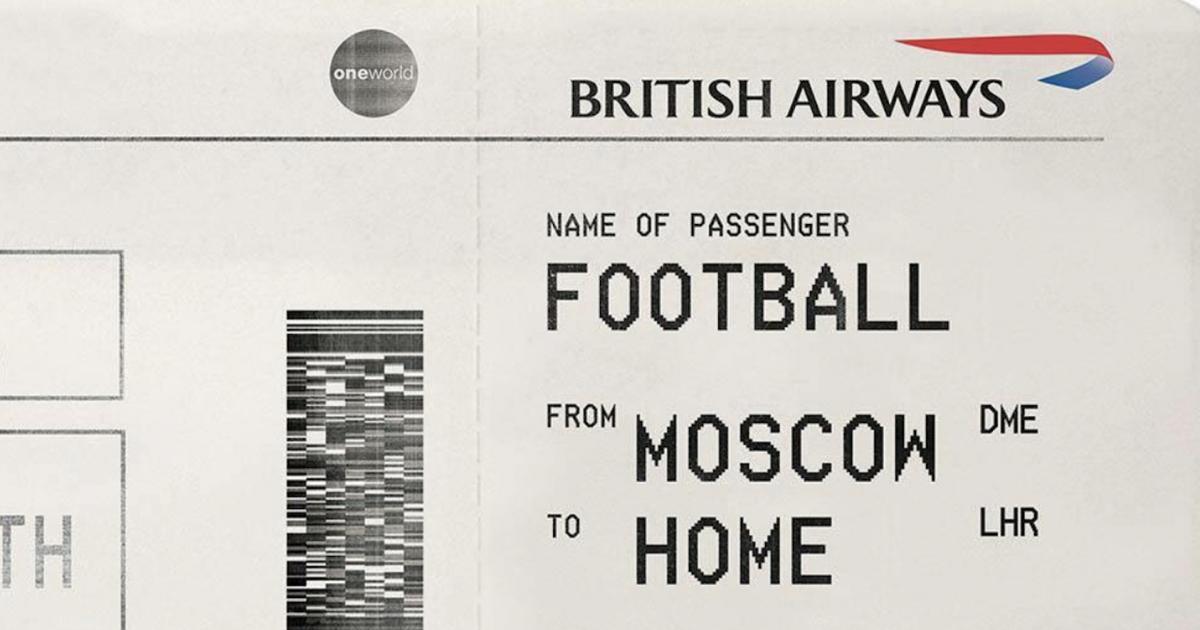 British Airways выдала билет домой «Футболу» в преддверии четвертьфинала.