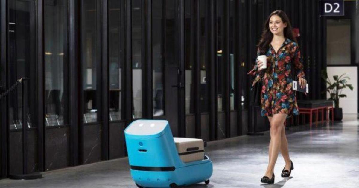 KLM хочет внедрить беспилотные багажные тележки в аэропортах.