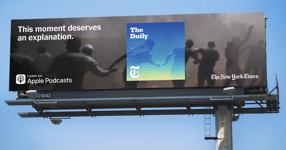 The New York Times запустила рекламу собственного подкаста.