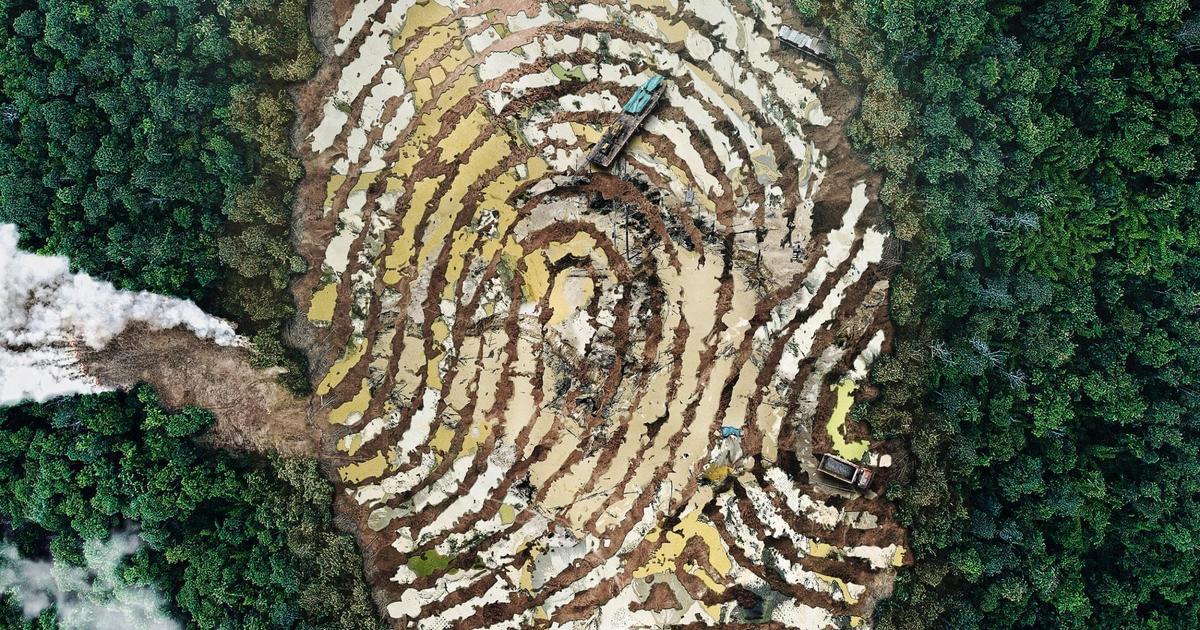 Greenpeace создала принты с грязными отпечатками пальцев.
