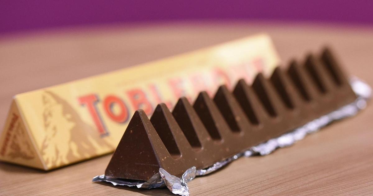 Шоколад Toblerone возвращается к первоначальному дизайну.