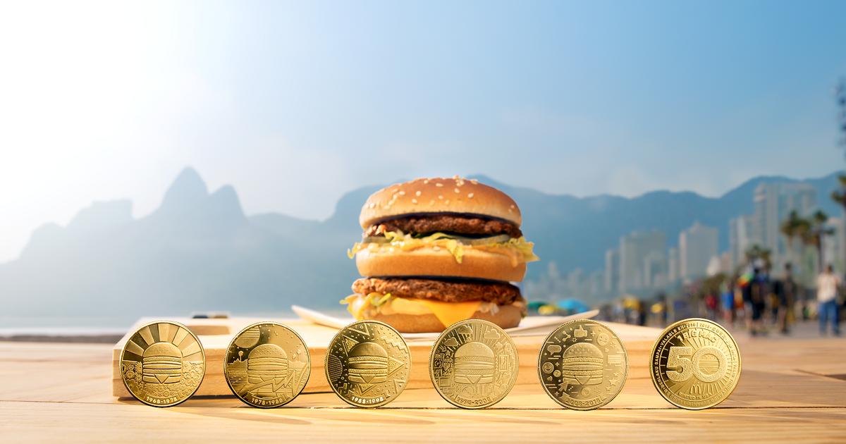 McDonald's выпустил серию монет MacCoin в честь 50-летия Биг Мак.