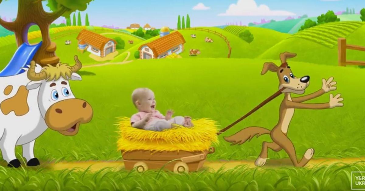 Мир счастливых малышей в рекламе ТМ «Простоквашино».