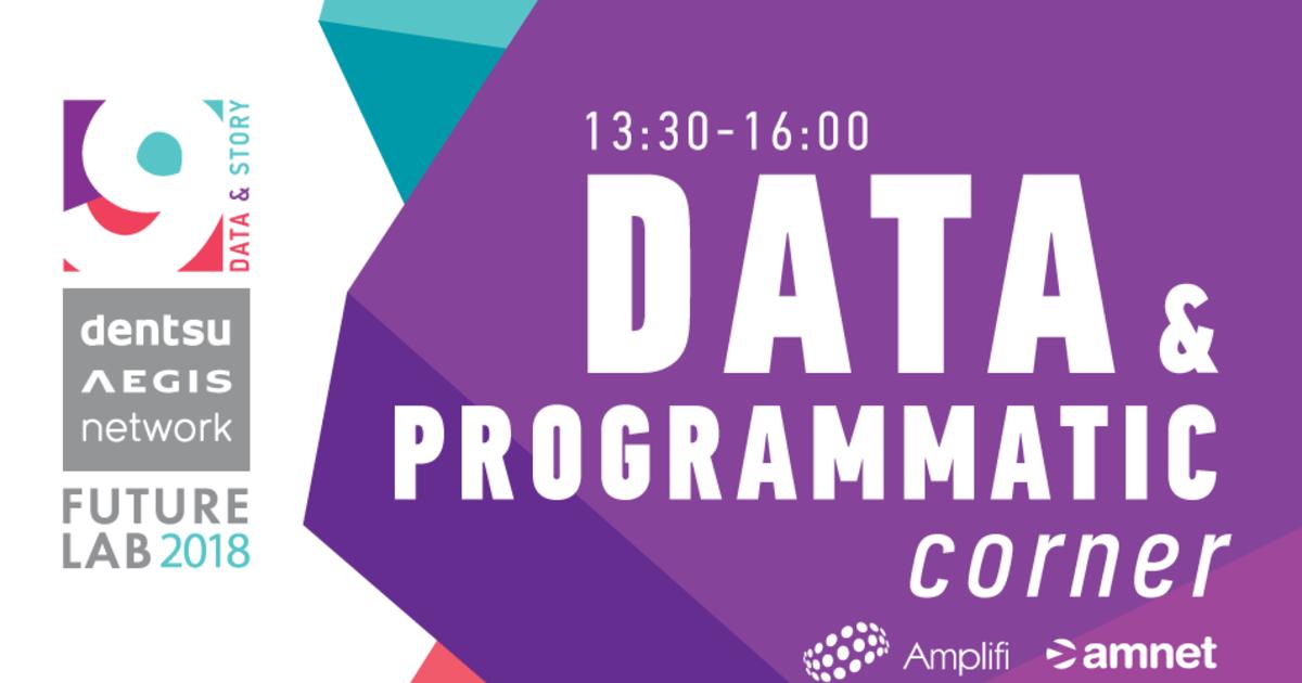Data & Programmatic corner на  Future Lab 2018.