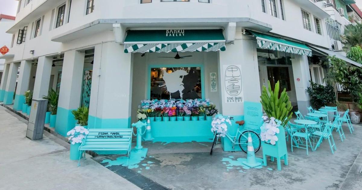 Tiffany & Co забрендировала пекарню в Сингапуре для промо новой коллекции.