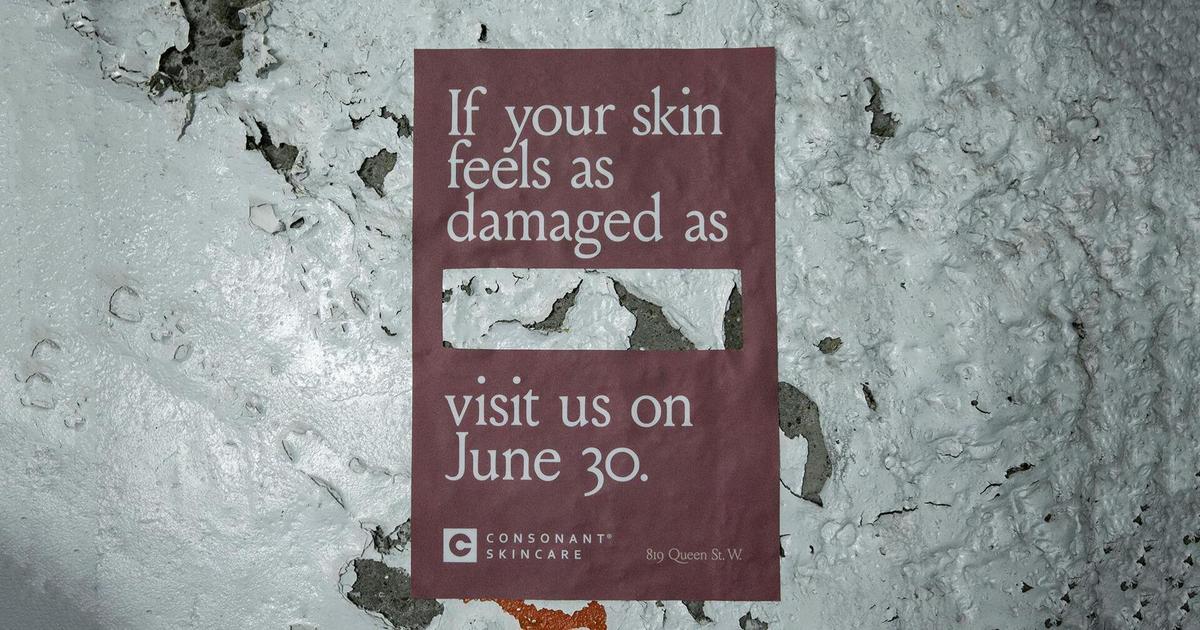 Для промо магазина бренда натуральной косметики использовали дефекты улицы.
