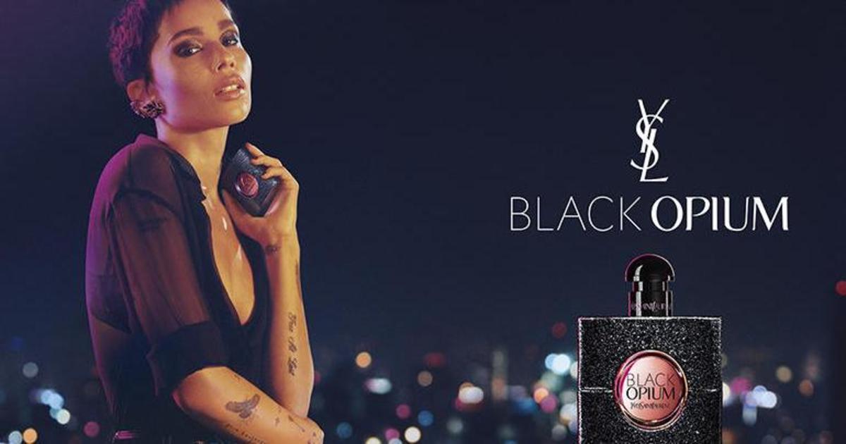 Зои Кравиц снялась в новой кампании Black Opium от Yves Saint Laurent.
