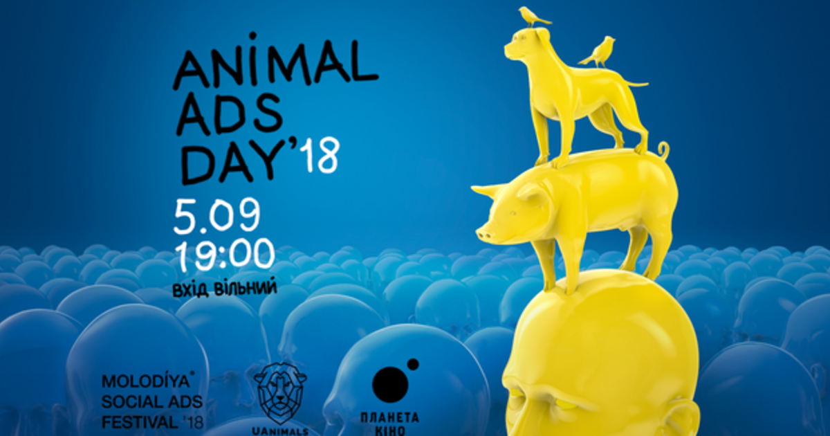 В Киеве показали мировую социальную рекламу о животных.
