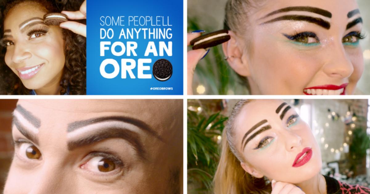 Oreo стал законодателем модных трендов: встречайте макияж Oreobrows.