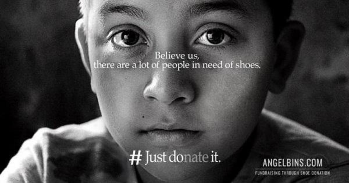 Пародия на рекламу Nike призвала фанатов пожертвовать, а не жечь обувь.