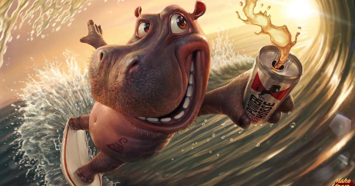 Самые ленивые животные взбодрились в рекламе энергетика.