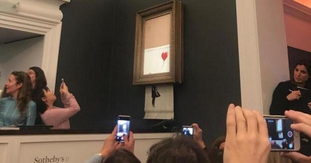 Самоуничтожающаяся картина Бэнкси стала PR-ходом года.