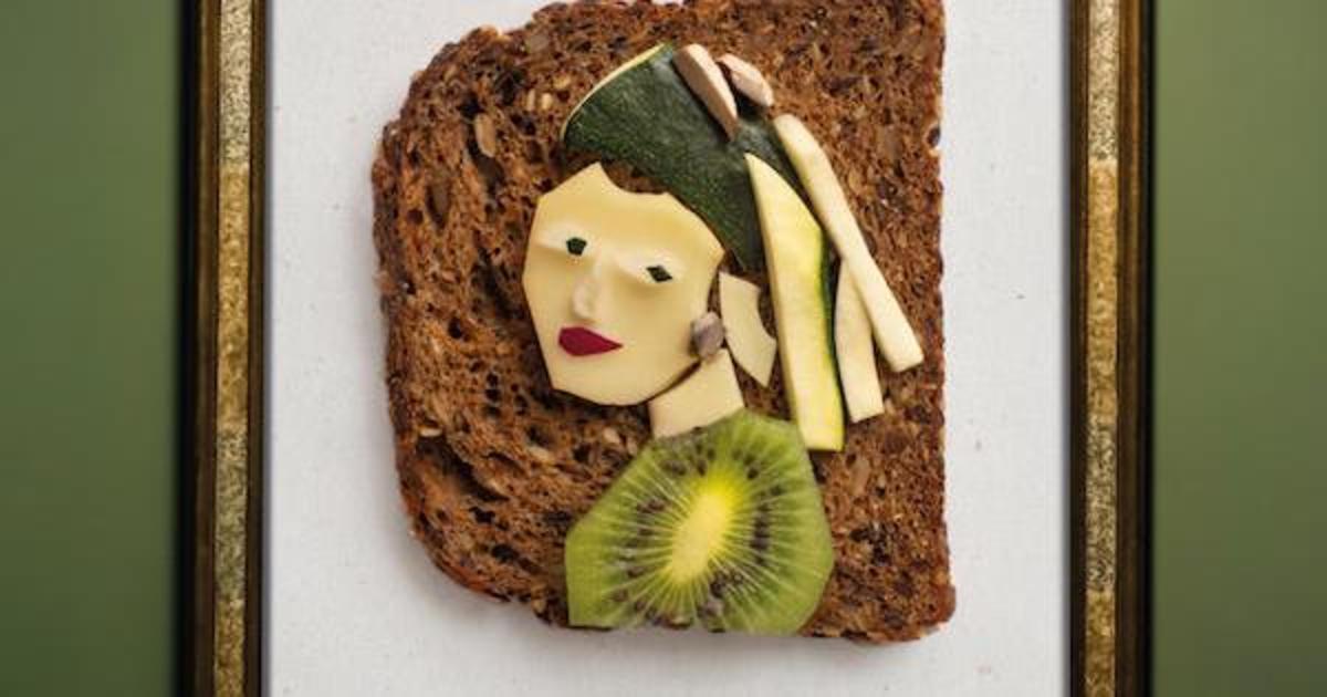 Сыр превратили в искусство, воссоздав из него известные картины.