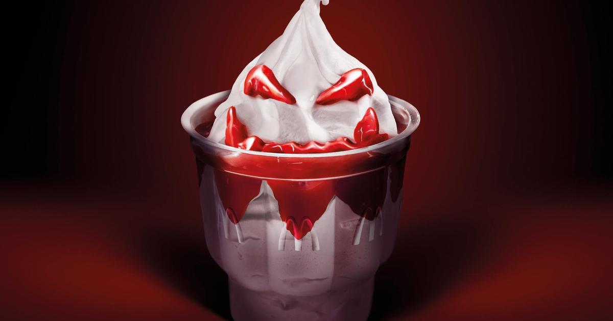 МакСанди с клубникой McDonald's напомнило о Хэллоуине.