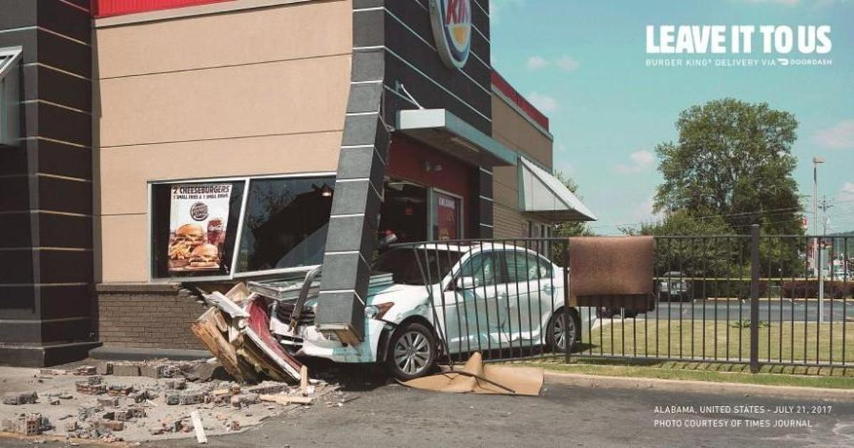 Burger King показал опасности King Драйва в рекламе доставки на дом.