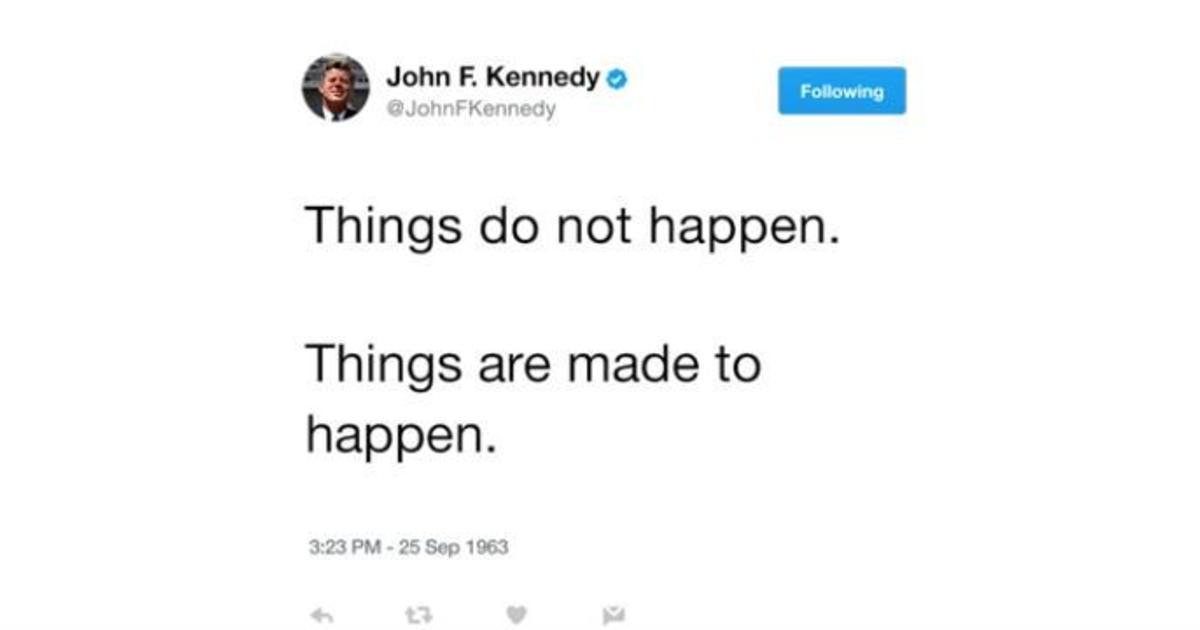 Джон Кеннеди теперь есть в Twitter. Делится своей политической мудростью.