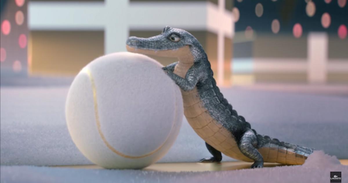 Lacoste выпустил рождественский ролик с игривым крокодилом.