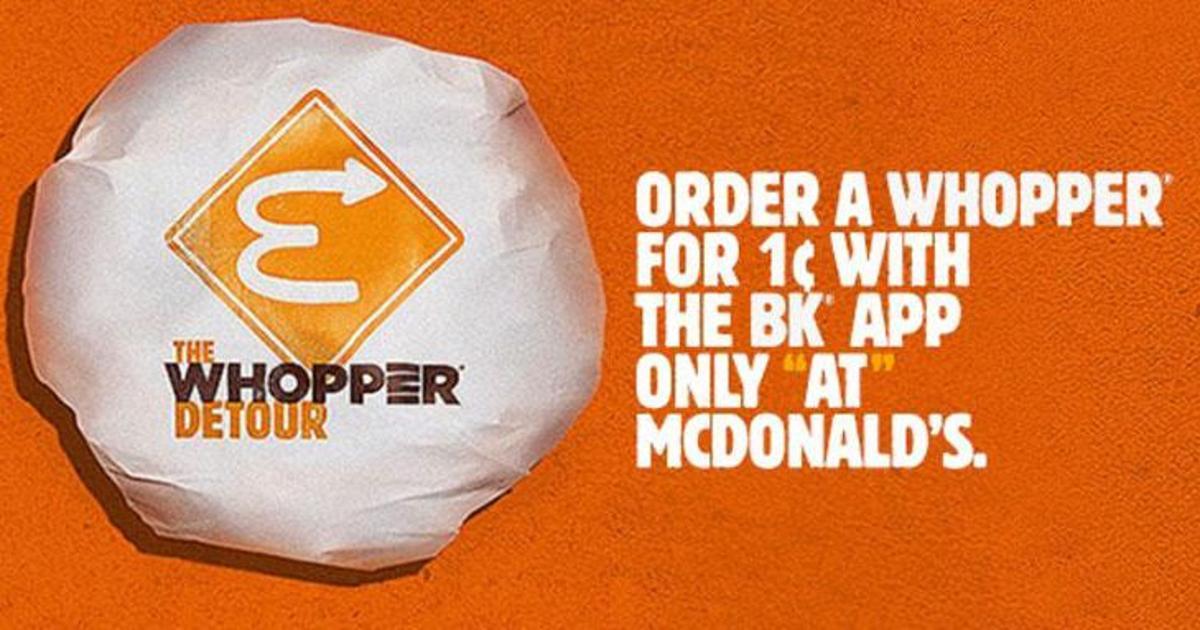 Burger King отправил покупателей в McDonald's, чтобы получить акционный воппер.
