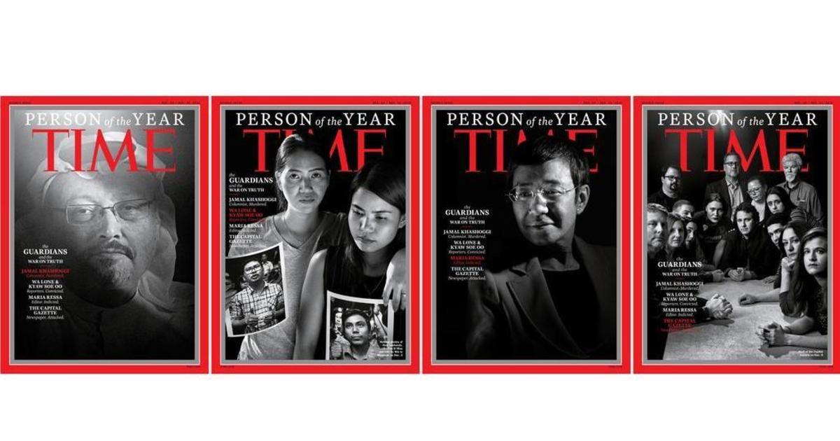 Time почтил убитых и находящихся в заключении журналистов в качестве «Человека года».