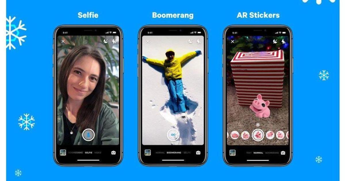 Facebook добавил в Messenger обновления для камеры.