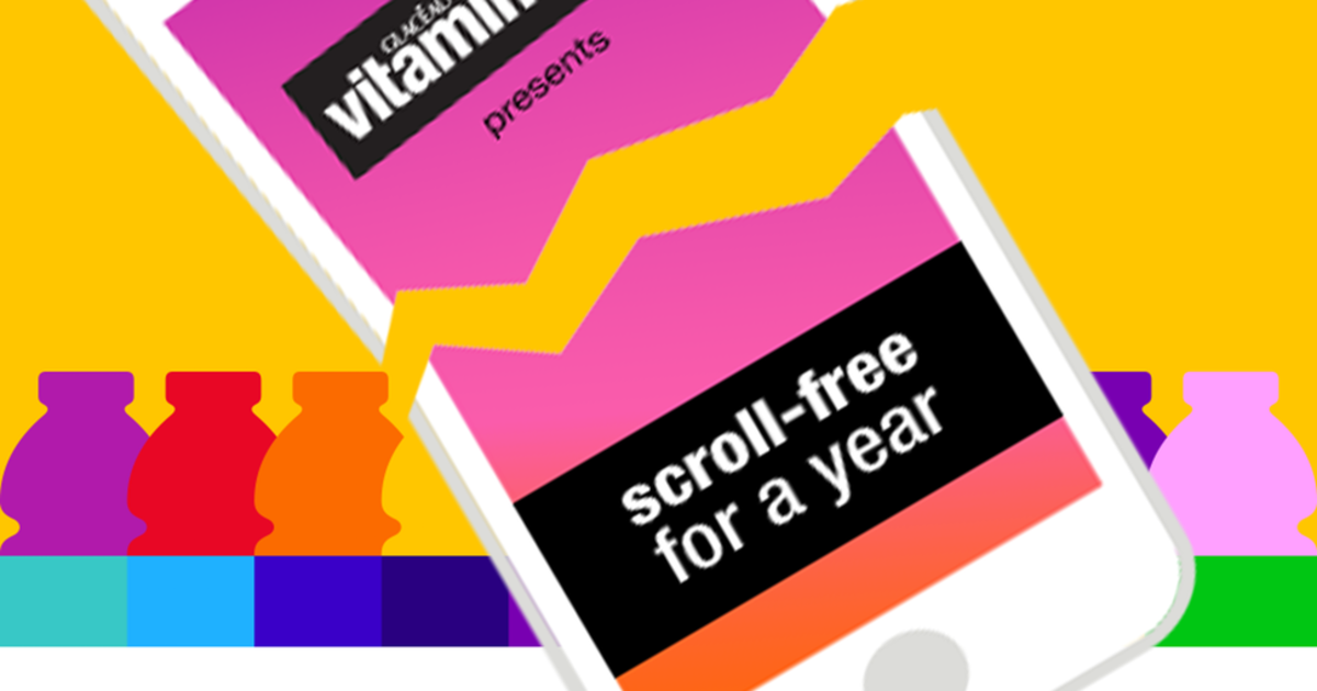 Vitaminwater предложила $100,000 за год без смартфона.