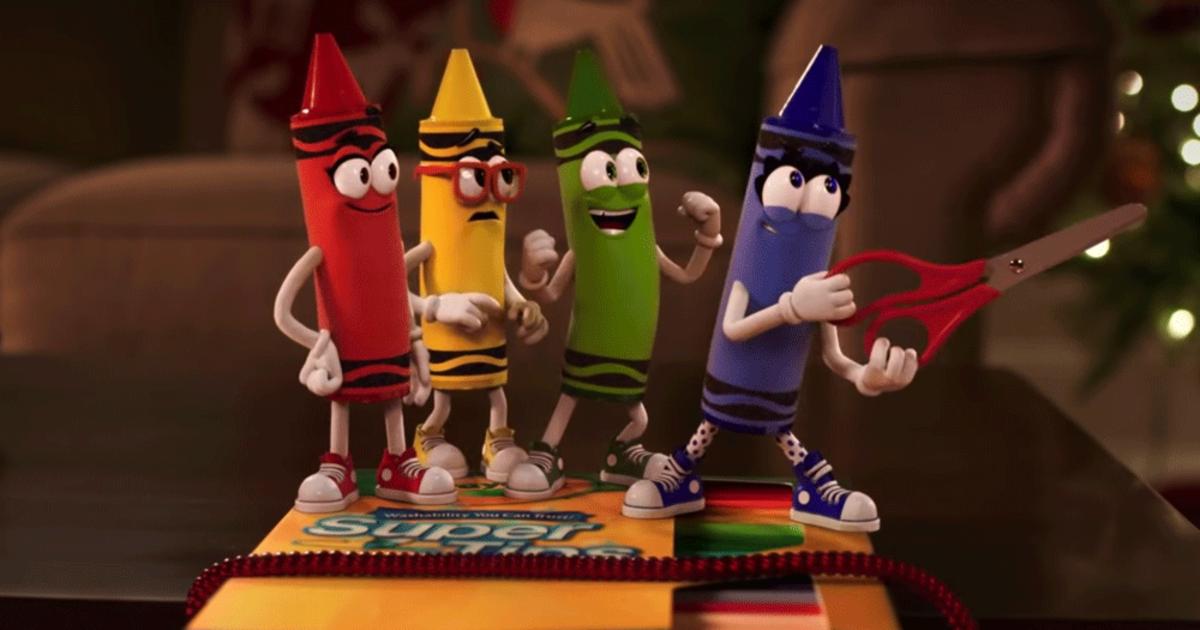 Персонажи Crayola стали главными героями в смешной новогодней рекламе бренда.