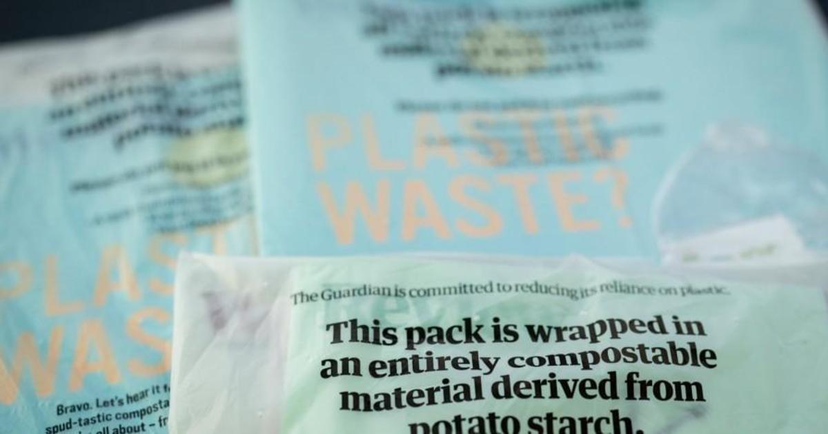 The Guardian будет бороться с загрязнением пластиком биоразлагаемой обложкой.