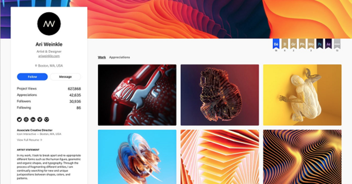 Behance обновила профили и страницы проектов.