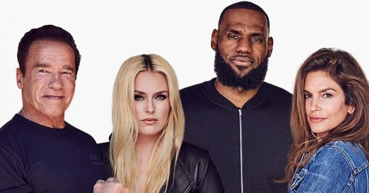Синди Кроуфорд, Шварценеггер и Леброн Джеймс снялись в рекламе собственного бренда.