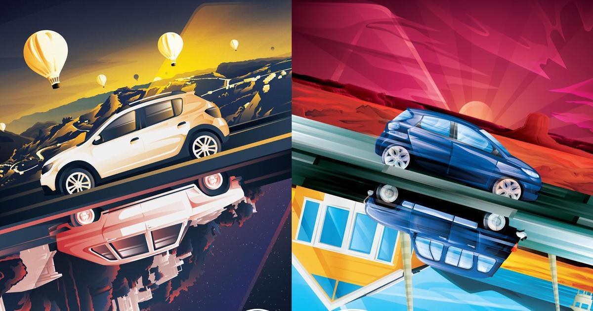 К своему 120-летию Renault совокупил старые и новые модели автомобилей.