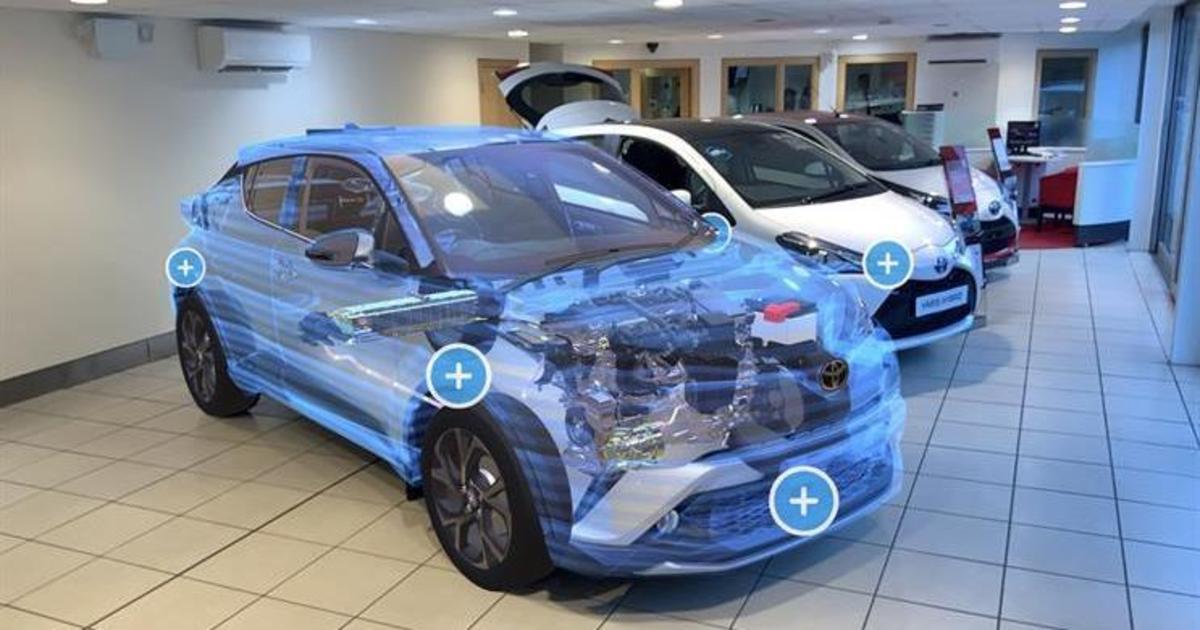 Toyota презентовала приложение дополненной реальности для новой модели автомобиля.