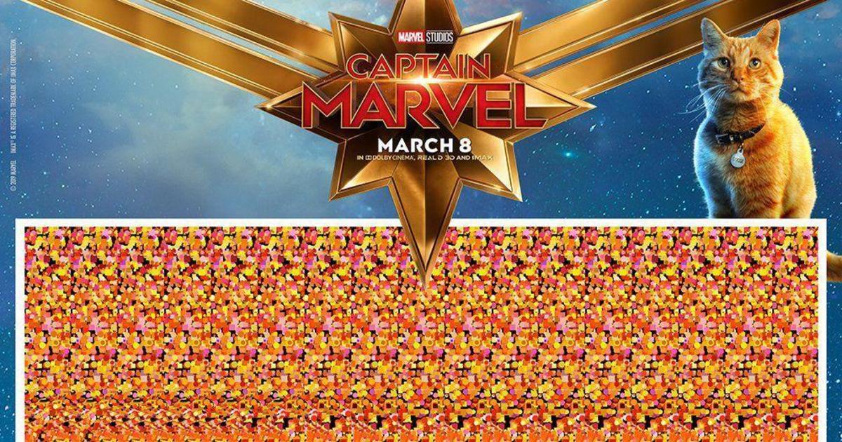 3D постеры «Капитана Марвел» вернули в 90-е.
