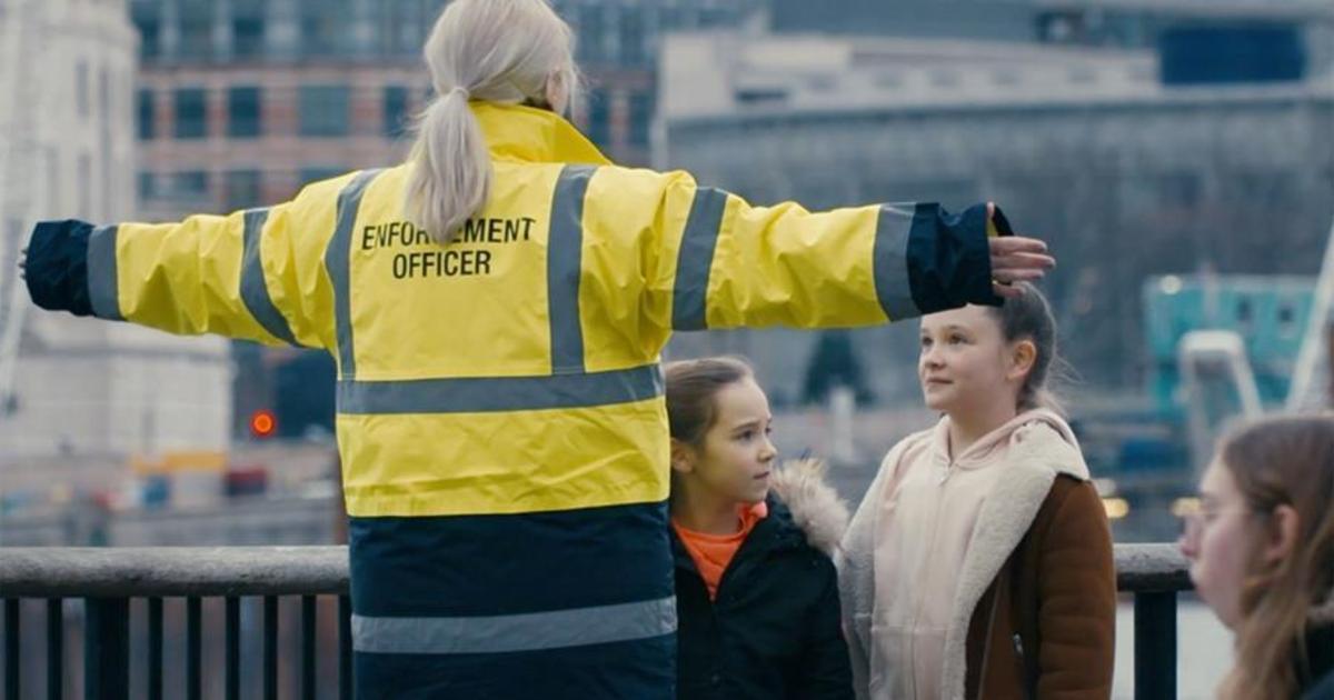 Amnesty International создали свободную от семей зону на южном берегу Темзы.